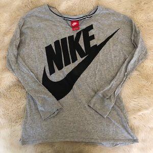 Nike long sleeve shirt black/grey